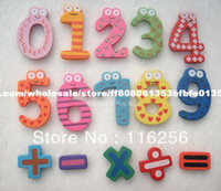Wholesale set set Creative Wooden fridge magnet Fridge magnet Refrigerator magnet