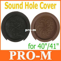 Wholesale Sound Hole Cover Block Plug Screeching Halt for quot quot EQ Acoustic Guitar Black Brown I142 Free