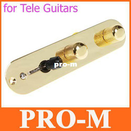 3Way Wired Loaded Control Plate Harness Switch Knobs for TL Tele Telecaster Guitar Gilded,Free