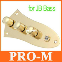 Wholesale Gold Control Plate Wired Fully Loaded for JB Style Jazz Bass Gilded Drop Shipping