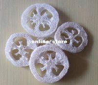 Loofah bath luffa - 250pcs Natural Loofah Luffa Loofa Slices Chew toys Bath Shower Sponge Scrubber