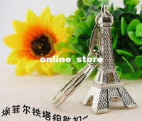 Wholesale retail D Eiffel Tower French france souvenir paris KeyChain Ring keyring keyfob cute Ador