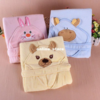 Wholesale cm children kids Infant Newborn baby Bath Hooded Towels Fleece Blankets Parisarc Animal Mod