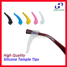 Wholesale High quality eyeglass eyewear glasses silicone Anti Slip ear hook lock temple tip holder