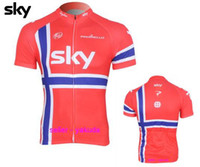 Wholesale Sky Team Style Custom Cycling Bike Jerseys Cycling Bicycle Jerseys Short Sleeve Tops