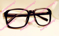 Wholesale New women men Retro myopia frame plain glass spectacles frame without box