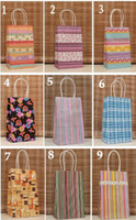 Wholesale 50Pcs Shopping Bags Polka dot kraft paper bag Festival gift package Fashionable gift paper bag X13X8cm