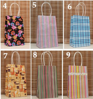 Handled apparel handle - 200pcs Fashion Environmental Reflection Kraft Paper Bag Apparel Gift Bag Shopping Bags X13X8cm