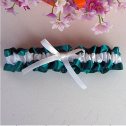 Wholesale custom any colour top bow style organza Bride Garter come with bow