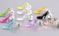 Wholesale 100 Mix Color Plastic High heel shoes Charm Beads MM