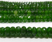 Wholesale 5x8mm Faceted Emerald Abacus Loose Beads Gemstone quot