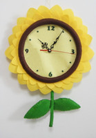 Quartz Analog cloth wall clock children clock 2013 Funny DIY Baby Wall Clock Fabric Child Clock Quartz Clock Movement Kit Spindle Mechanism