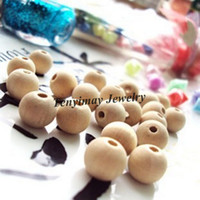 Wholesale 10mm Wooden Loose Beads Original Color Wood Accessory