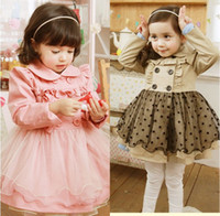 Wholesale 2013 Autumn Net Yarn Coat New Children Clothing Kids Baby Dresses CS3