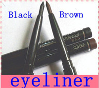 Wholesale 24pcs Makeup Rotary Retractable Black Gel Eyeliner Pen Pencil Eye Liner