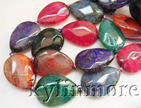 Wholesale 8SE08041a x30mm Fire Agate Faceted Pear Beads quot