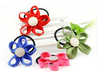 Wholesale 100pcs Flower hair bands a golden detain rope rope fashion headdress jewelry hair accessory