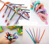 Wholesale Promotion cm Bendable Flexible Soft Fun Pencil With Eraser Toys Gifts Prize Kids School pc
