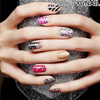 Wholesale Classic D charm mixed color shiny NAIL WRAP NAIL APPLIQUE NAIL STICKERS Beautiful fashon nail wrap