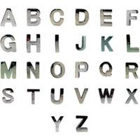 al por mayor accesorios para perros-10mm Alto Carta polaco encanto de la diapositiva! Alfabeto A-Z para DIY Nombre de mascota! DIY del gato del perro del animal doméstico Collar Slide Charm Pet accesorios de moda para mascotas