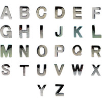 Wholesale 10mm High Polish Letter Slide Charm Alphabet A Z For DIY Pet Name DIY Dog Cat Pet Collar Slide Charm Pet Accessory Pet Fashion