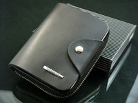 Wholesale NEW Luxury Men s Genuine Leather Zipper Wallet black brown High quality accessory