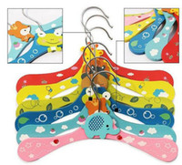 Wholesale New Cute Cartoon Animals Wooden kids Clothes Hanger baby children hanger styles whol