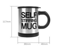 plastic tea cups - Household Automatic Stainless Plain Lazy Self Stirring Mug Mixing Tea Cup Coffee Mug Tea Coffee