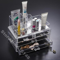 Wholesale Makeup Organizer Cosmetic Crystal Acrylic Case Display Box Big Size B