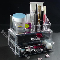 Wholesale Makeup Organizer Cosmetic Crystal Acrylic Case Display Box Jewelry Small Size