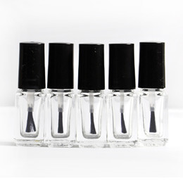 Wholesale 5 Packs of oz Empty Nail Polish Bottle Clear Glass
