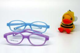 Wholesale Children Glasses Frame Size No Screw One piece Optical Baby Eyewear with Strap Cord Kids Eyeglasses Safe Boys Girls Glasses
