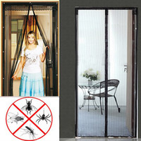 Wholesale Magic Mesh Insect Door Curtain Pet Fly Mosquito Screen Hands Free Magnets Net GX