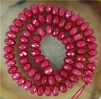Wholesale 5x8mm Faceted Brazil Ruby Abacus Gemstone Loose Beads quot