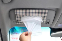 Wholesale Car sun visor Tissue box Auto accessories Paper napkin holder clip PU leather