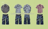 Wholesale 2Pcs Cotton Children Sets Top Pants Fashion Kids Suits Freeshipping Children Wear Children Clothes