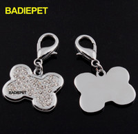 Wholesale Luxury SWAROVSKI Crystal Dog Pet ID Tag Customized Pet Carving ID Tag Dog Pet Jewelry Pet Pendant Charm Pet Supplies Pet Product