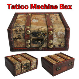 Wholesale 100 Portable Wooden Tattoo Machine Case Classic Traveling Carry Box