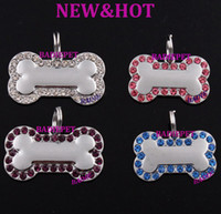 best pet tags - Best Selling Mix Colors Luxury Diamond Bone Shape Engraving Dog Pet ID Tag Customized Pet Carving ID Tag Pet Pendant Charm Pet Jewelry