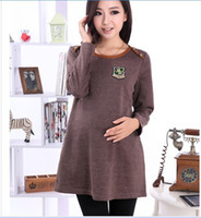 Wholesale Maternity Dress Maternity Hitz Korean women dress pregnant women a generation of fat f