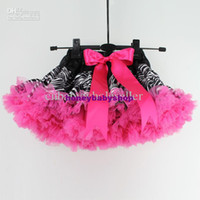 Girl pink zebra - New Year Baby Girl Princess Dresses Black and Hot Pink Zebra Girl PettiSkirt Discount Infant Clothes
