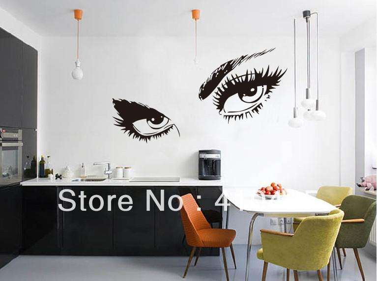 Audrey Hepburn 'S Eyes /Vinyl Wall Decals 80*150 Cm/ Waterproof