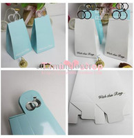 Paper White Favor Boxes Western Wedding Ring Candy Box Diamond Ring Candy Box Thicker Coating Candy Box 100Piece