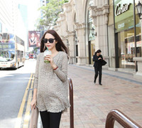 Wholesale Maternity Dress Maternity spring double Korean version of the new round neck lace
