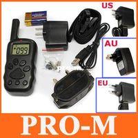 Wholesale 300M LCD Remote Electronic Dog Training Collar Levels Shock US AU EU freeshipping dropshipping