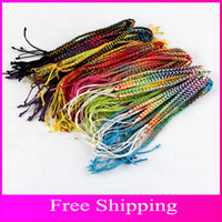 Wholesale String Bracelet Friendship Bracelets Handmade Cuff Bracelet Colors Braided Bracelets Easy Adjustable