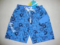 beach shorts baby bermuda - Boys anti UV board shorts Children boardshorts Kids Beach wear Baby bermuda shorts Big Boys badeshorts Flower printing beach wear free ship
