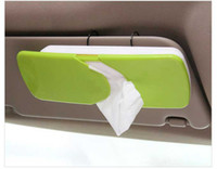 Wholesale New Auto Car Sun Visor ABS Facial Tissue Box Tissue Holder Paper Towel Holder