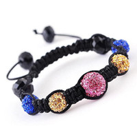 Wholesale hot Slap amp Snap Bracelets mm alloy rhinestone beads mm crystal beads SL31