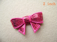 Wholesale Girls Hair accessories quot Embroidered Sequin Bows Sparkle Sequin Bow for Headband